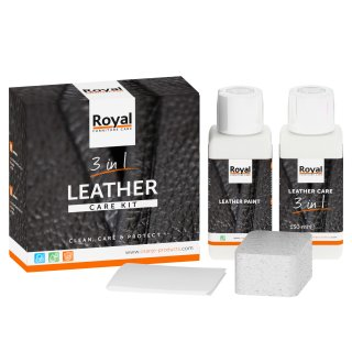Royal Leather Care Kit 3 In 1 2x150ml Lederpflege Für Glattleder